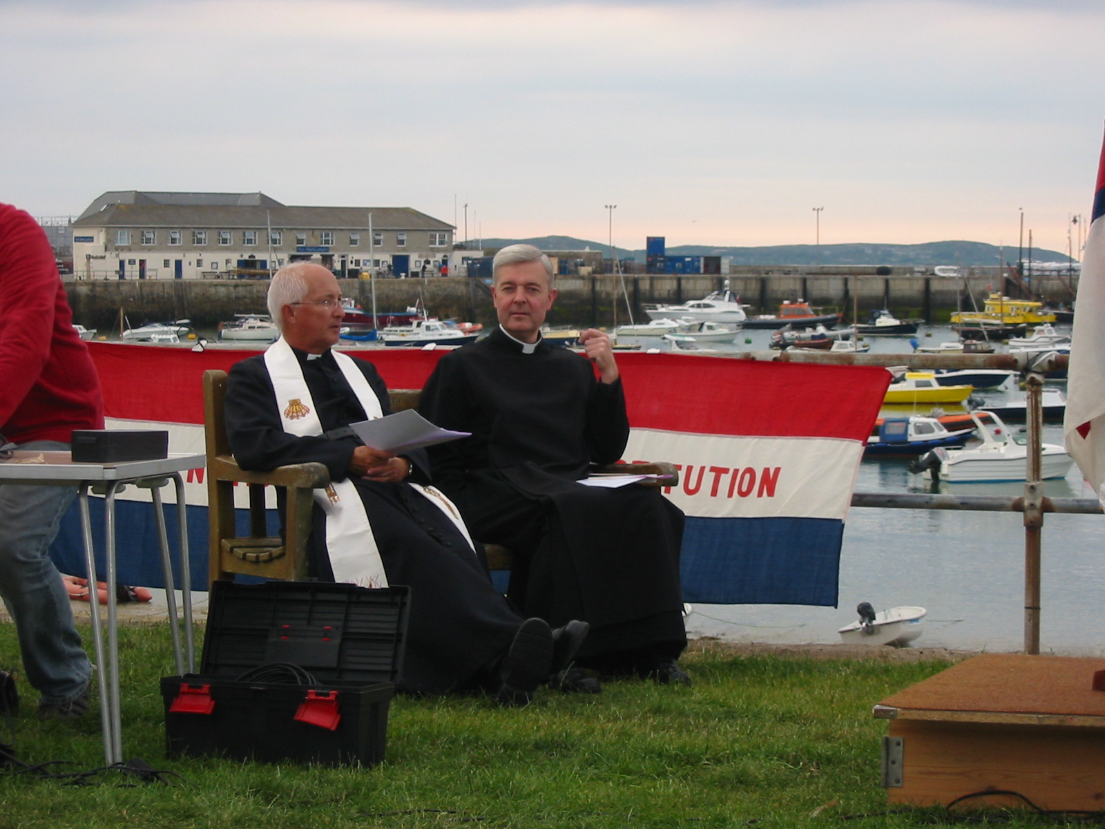 Rev David Easton and Rev Guy Scott at RNLI service