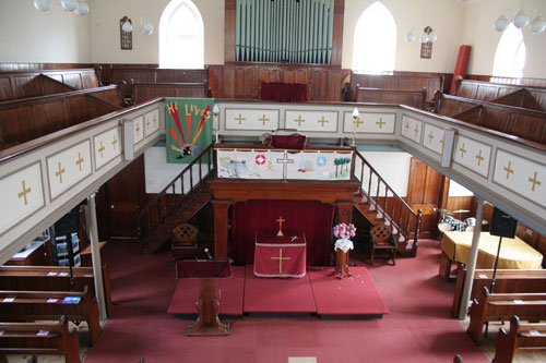 The interior of St. Mary's Methodist church
